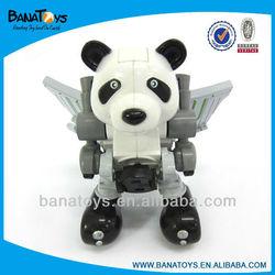905061180 car transform robot toy panda electric car