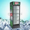 procool comercial puerta de vidrio de la pantalla para enfriadores de bebidas gaseosas