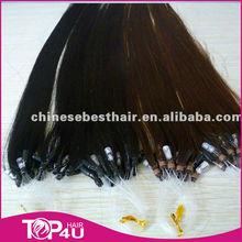 hot selling dark color indian remy human hair loop hair