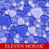 EMSPP02, high glossed glass mosaic tile,irregular tile