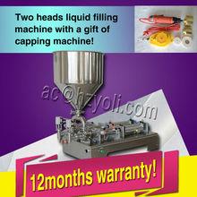 hot sale Double Heads liquid paste mixing filling machine 0-30 bottle per minute