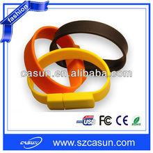 Silicone USB Bracelet with Custom Bracelet USB Hard Drive