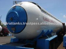 LPG gas tank trailer