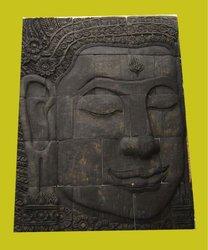 stone carving wall, Buddha head decoration,wall buddha decor