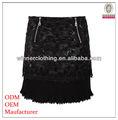 Señora de lujo hechos a mano de estilo faldas Crochet