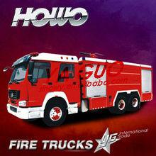 howo 12t 6*4 red euro fire trucks