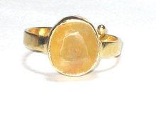 yellow sapphire gemstone ring, birthstone, rashi ratan,