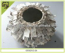natural material flower pot decorative birch bark planter