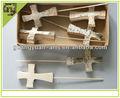 Natural de abedul en forma de cruz decoraciones artesanías naturales
