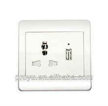 USB wall power socket, USB wall plug for digital products plug and socket PY-500S