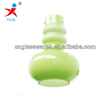hanging green colored glass lamp shades /glasswares for lamp shade