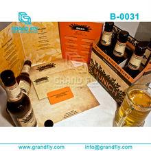 Simple images corrugated cardboard wine carrier packs
