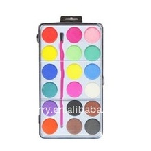 18 colors solid watercolor set with brush