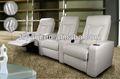 Design moderne meubles home cinéma 613-0 fauteuil inclinable en cuir blanc