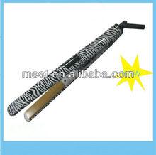 Smooth zebra ceramic LCD hair straightener