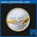 Moneda de encargo, personalizar la alta calidad, de oro y plata de la moneda