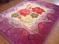 La conception de fleur d'impression tissu de couverture
