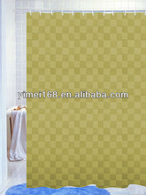 Popular oilproof plastic shower curtain / waterproof shower curtain / 100% polyester shower curtain