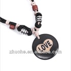 ox bone carving necklace handmade craft NGXL-012