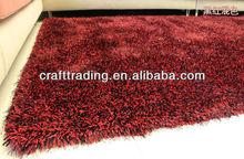Red soft floor shaggy rug