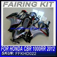 BODY WORK For HONDA CBR 1000RR 2012 FAIRING KIT BLACK AND GREY FFKHD022