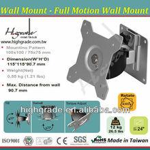 Full motion swivel articulating tilt LCD Monitor ARM