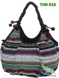 Thai Vintage HMONG Tribe Tote Bag Handbag THB 016