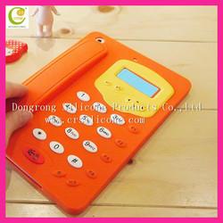 Fashion telephone shape silicone case for ipad 2,soft silcone case for ipad wholesale