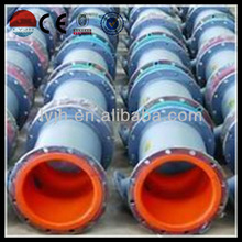 Abrasion resistance rubber lining pipe for handling concentrated ore