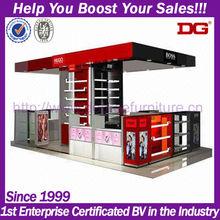 Fashion style customized mdf acrylic design perfume cosmetic kiosk