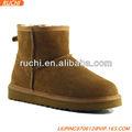 Senhoras neve bota de pele de carneiro e lã Ankle Boot