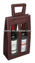 Custom high quality leather wine beer whisky bottle holder