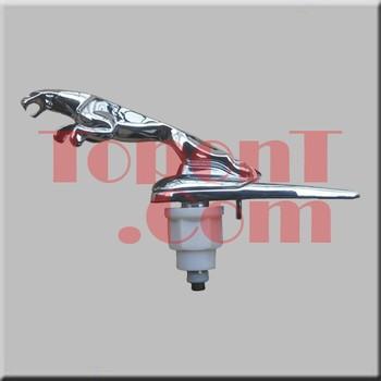 For Jaguar Bonnet Hood Ornament Mascot Leaper Leaping Cat Spring loaded Chrome Finish