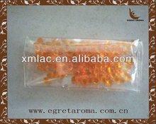 factory price orange bulk fragrance beads in sealed opp bag