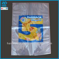 high quality food grade plastic packaging bag