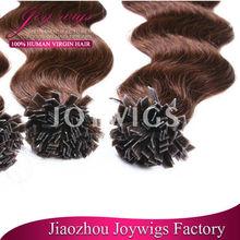 Best Price Top Quality Virgin Human Hair Flat Tip Keratin Fusion Hair Extensions flat tip hair extensions