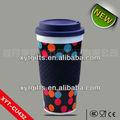 400ml plástico descartável xícara de chá de/anel de silicone copos/copo de plástico