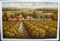 hermoso diseño de la pintura de aceite pesado de viñedo pintado