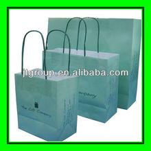 garment shopping use custom design printing white kraft paper cloth shopping bags