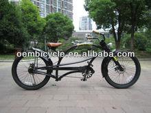 24inch black professional adult chopper style bike