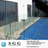 frameless tempered glass pool safety fence panels
