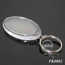 Transparent Blank Acrylic Keyring