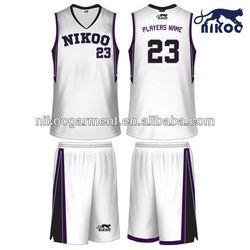 NIKOO 2014 custom sublimated unisex basketball uniform for training