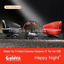 Em-a07 # venda quente sala de estar mobiliário sofá de madeira quadro com o italiano capa de couro