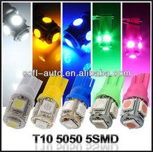 Highest brightness LED 5050 3chips, Map Lights, License Plate Light 194 168 W5W T10 5SMD 5050