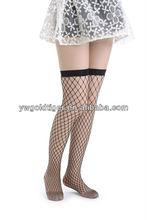 China Custom Sock Manufacturer Street Fashion Wholesale Thigh High Sexy Black Big Fishnet Fence Diamond Net fishnet Stockings