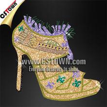 Glitter women high heel garment custom heat press transfers