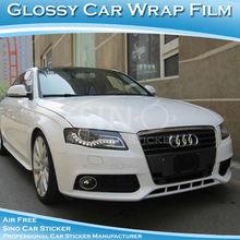 SINO CAR STICKER Top Quality Glossy White Full car Body Decoration Sticker