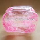 Transparent pvc waterproof toiletry bag with printing