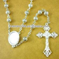 metal 6mm beads ,catholic rosary